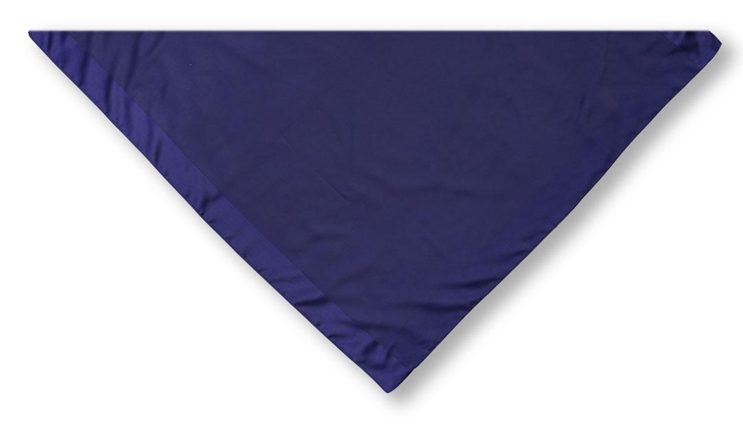 Damentuch in dunkelblau, auf Dreieck gefaltet
