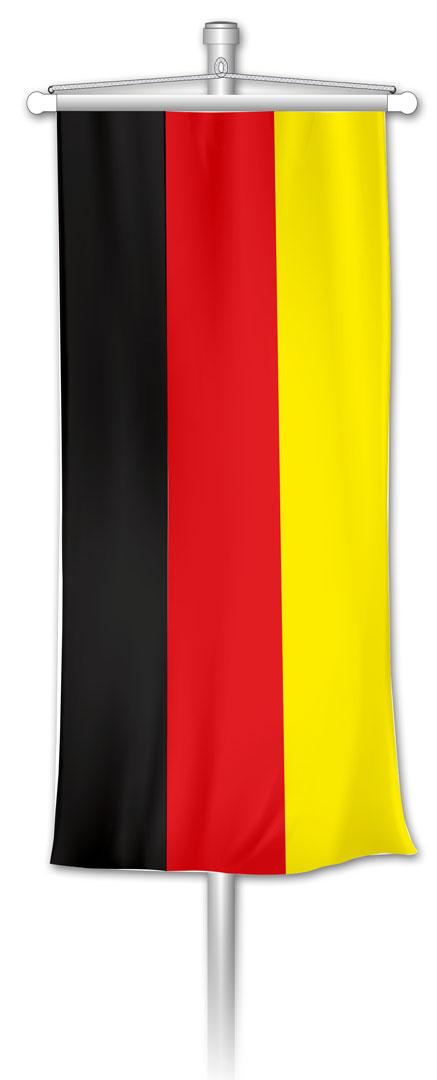 Bannerfahne BRD Schwarz-Rot-Gold