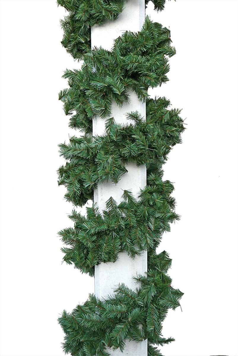 grüne Zweiggirlande mit brauner Seele Ø 28cm