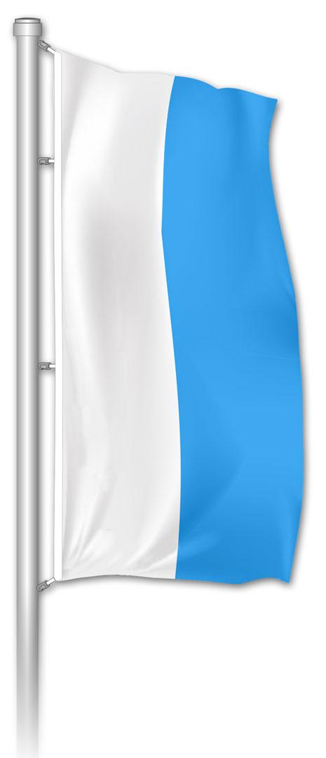 Hochformatfahne Bayern Weiß-Blau