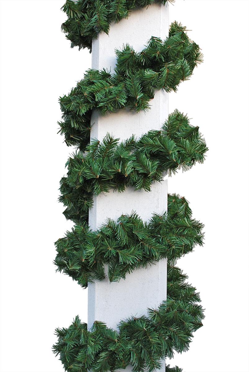 grüne Zweiggirlande Ø 16cm mit brauner Seele