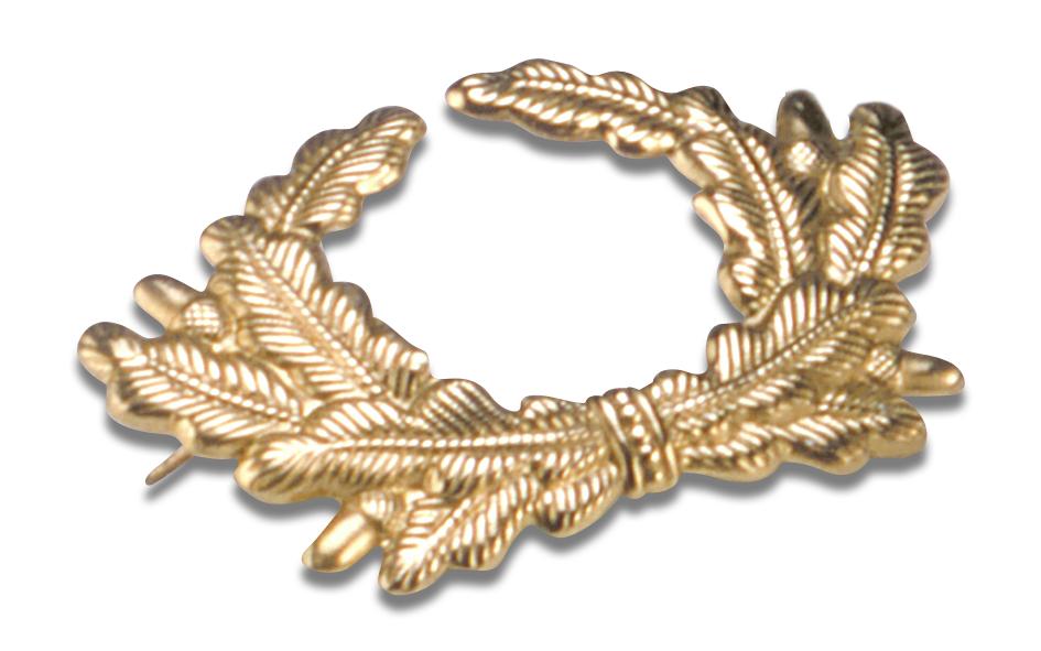 Eichenlaubkranz in gold für Veteranenmütze