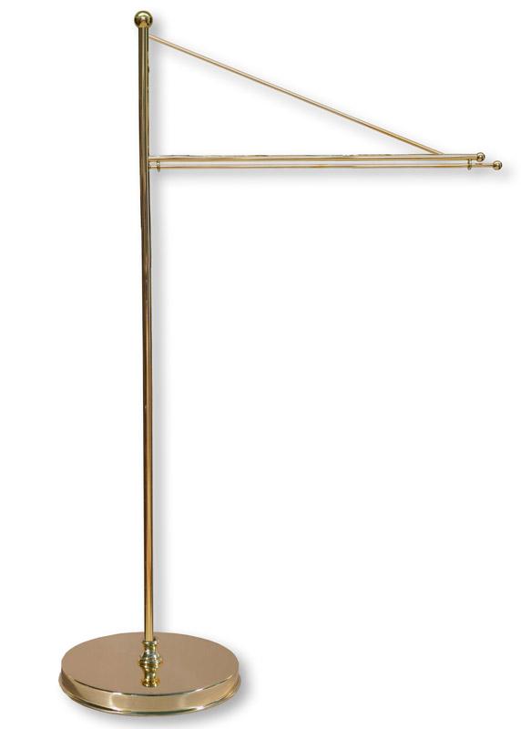Tischstandartenständer aus Messing, 48 cm / 20 cm Ausladung