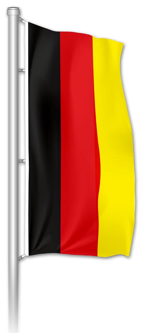 Hochformatfahne BRD Schwarz-Rot-Gold