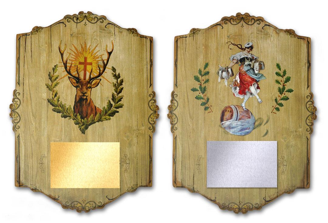Ehrentafel auf Holz gedruckt Schützen