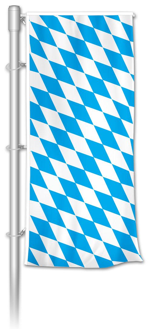 Auslegerfahne bayerische Raute