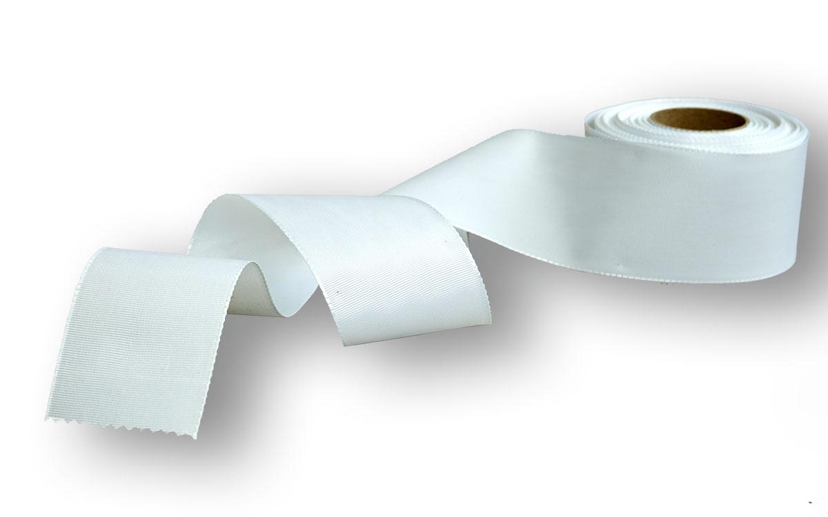 weißes Ripsband