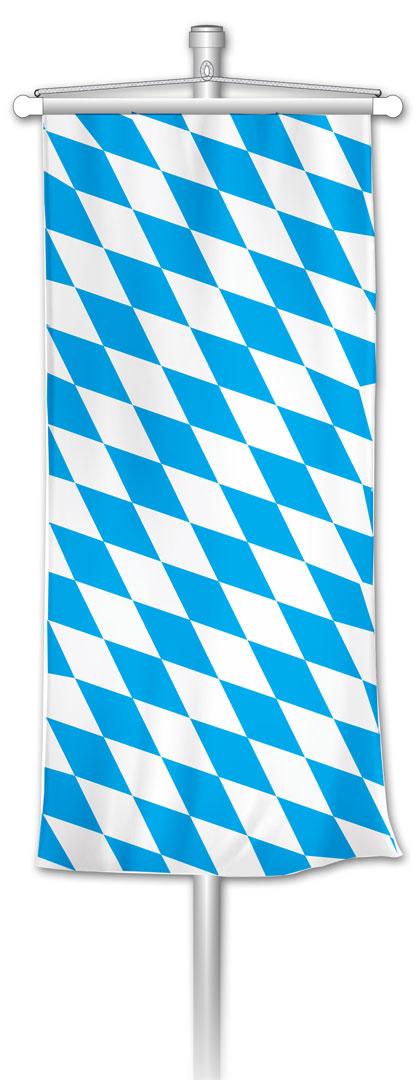 Bannerfahne bayerische Raute