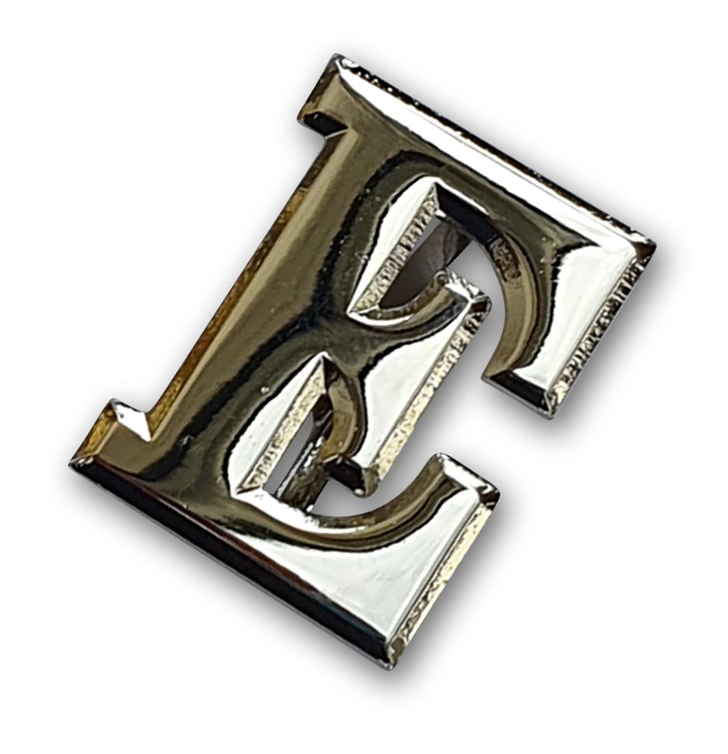 silbernes E für Schulterstück