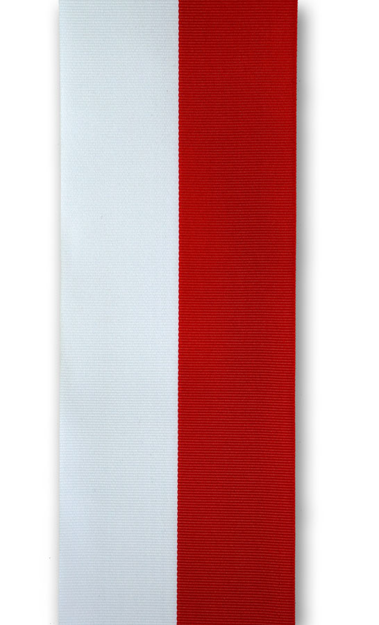 weiss-rotes Ripsband