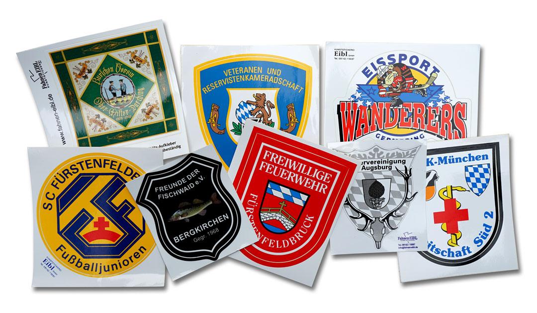 Aufkleber auf weiß mit Logo, Wappen oder ähnlich nach Ihrer Vorlage