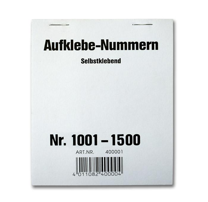 Aufklebenummern 1001-1500