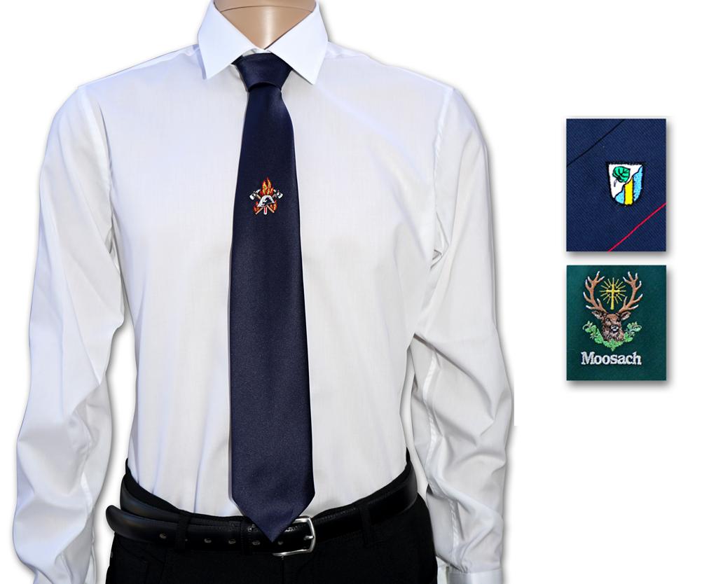 individuell bestickte Krawatte in verschiendenen Farben und Qualitäten