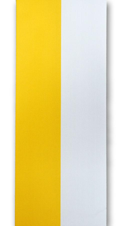 zweifarbiges Ripsband, gelb-weiss