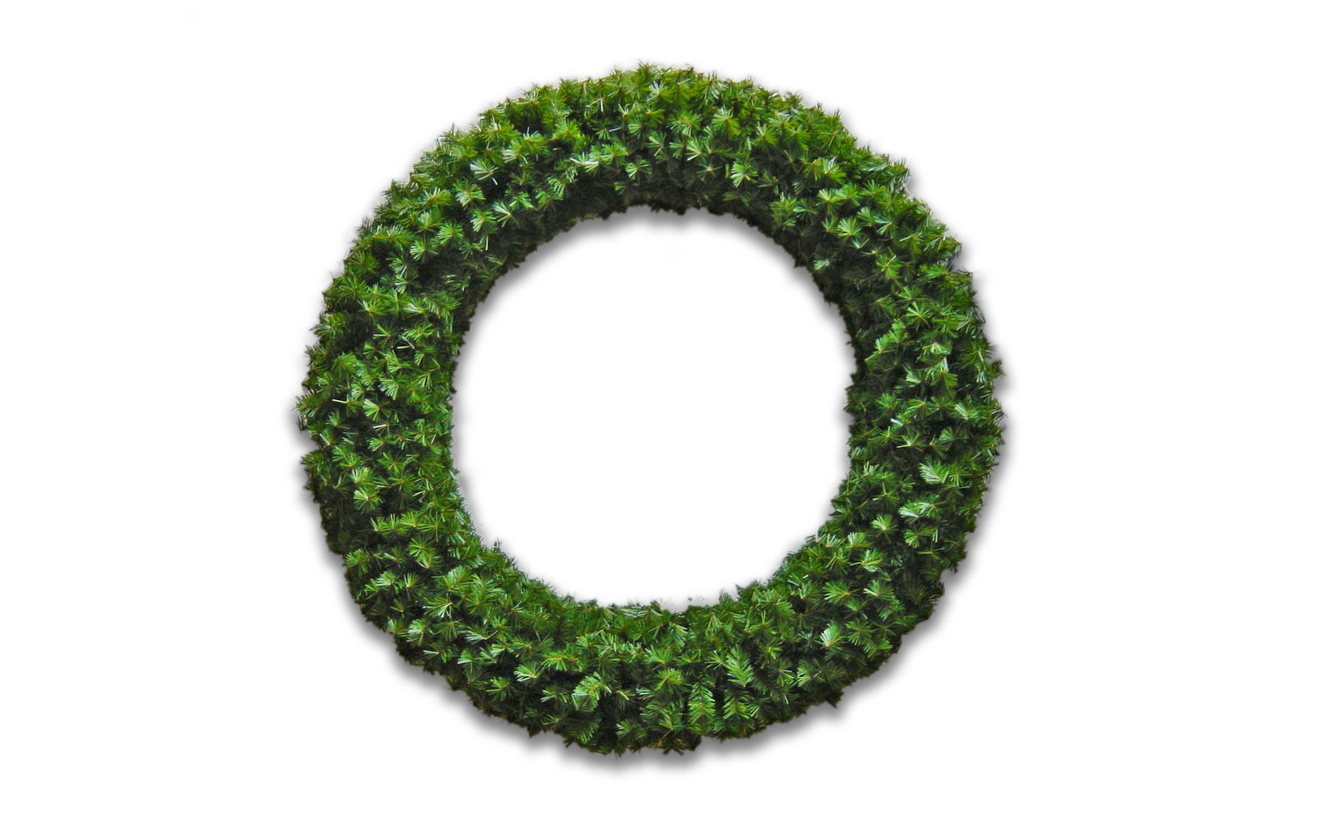 grüner Maibaumkranz