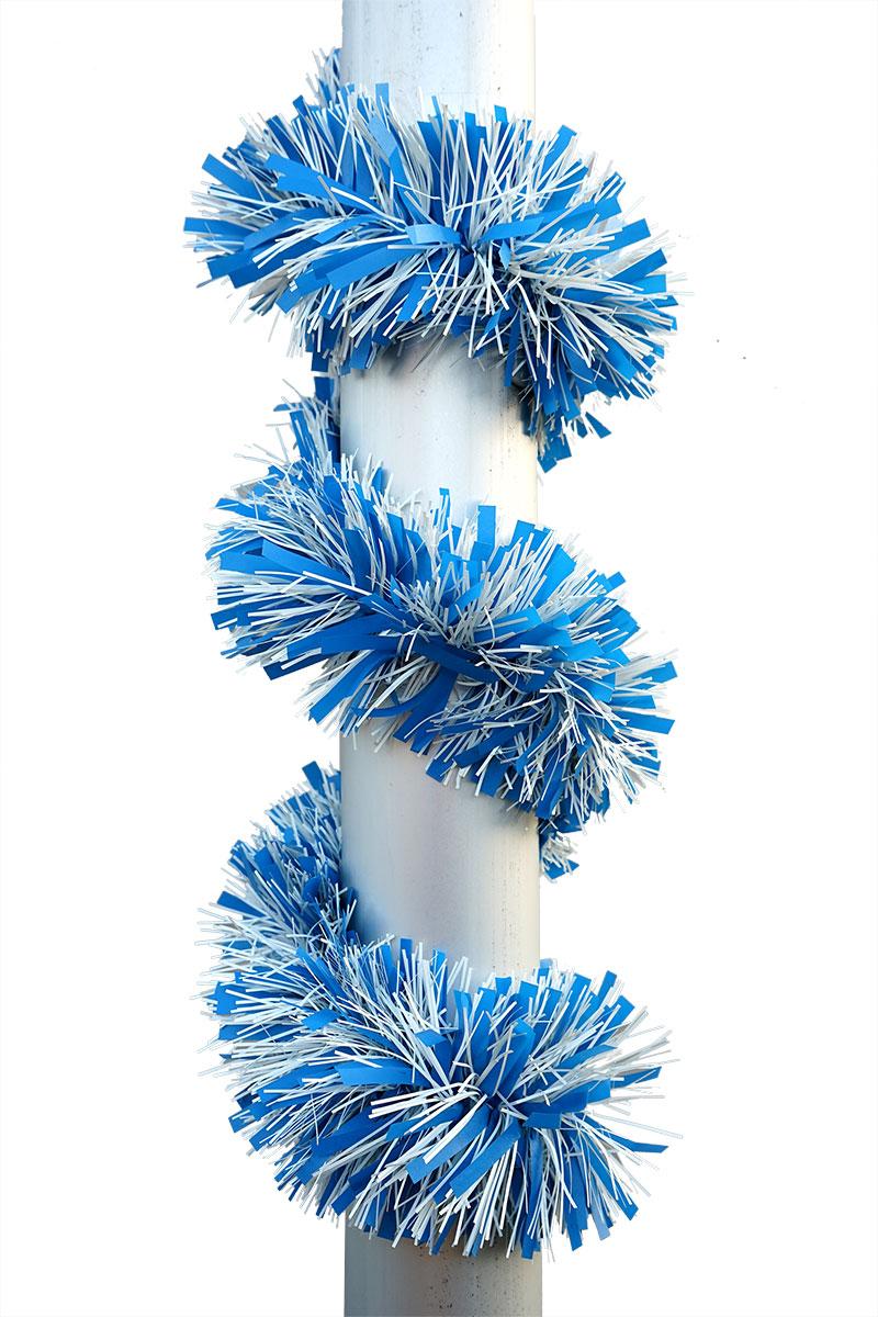 weiss-blaue Dekogirlande Ø12cm, Länge 5m