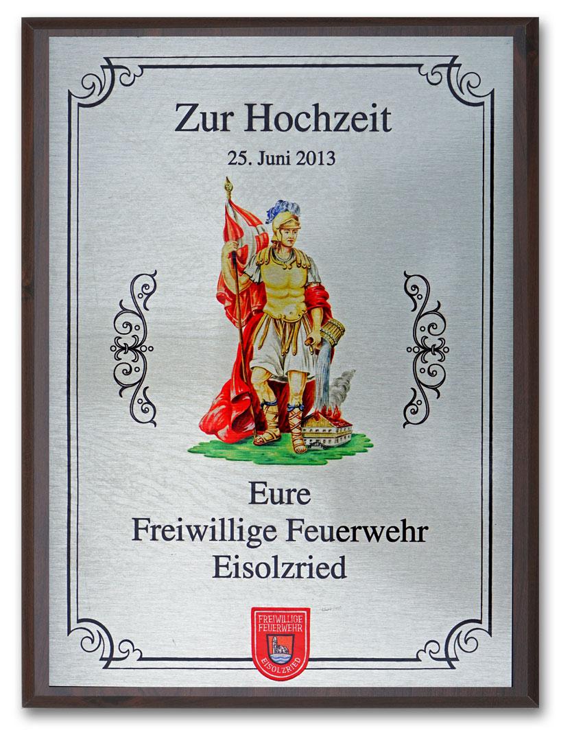 Ehrentafel gedruckt mit Wandbrett