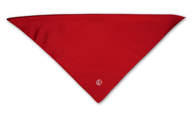 rotes Schultertuch für Damen mit Bestickung