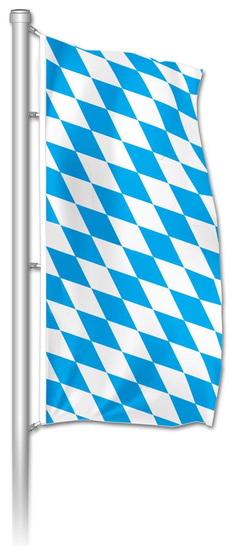 Hochformatfahne bayerische Raute