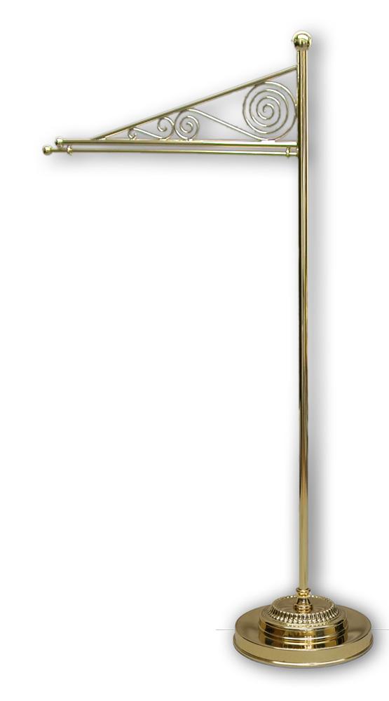 Tischstandartenständer aus Messing, 52 cm / 25 cm Ausladung