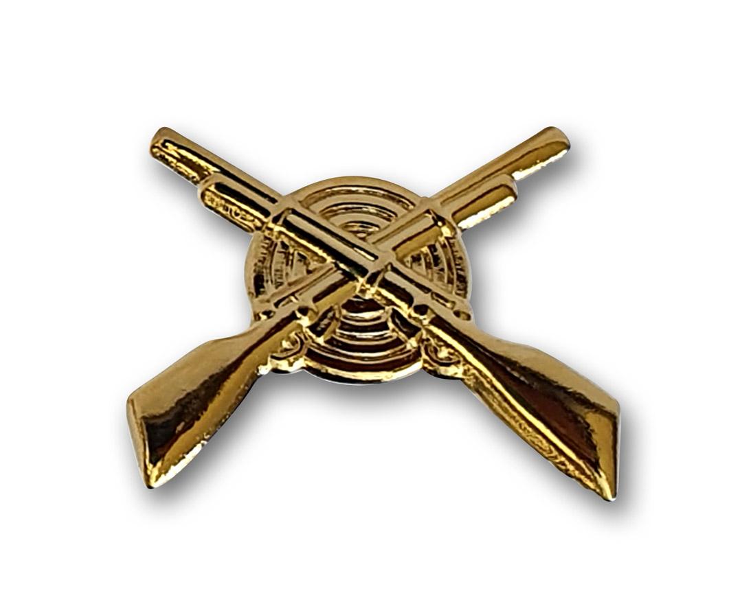 gekreuzte Gewehre in Gold für Schulterstück