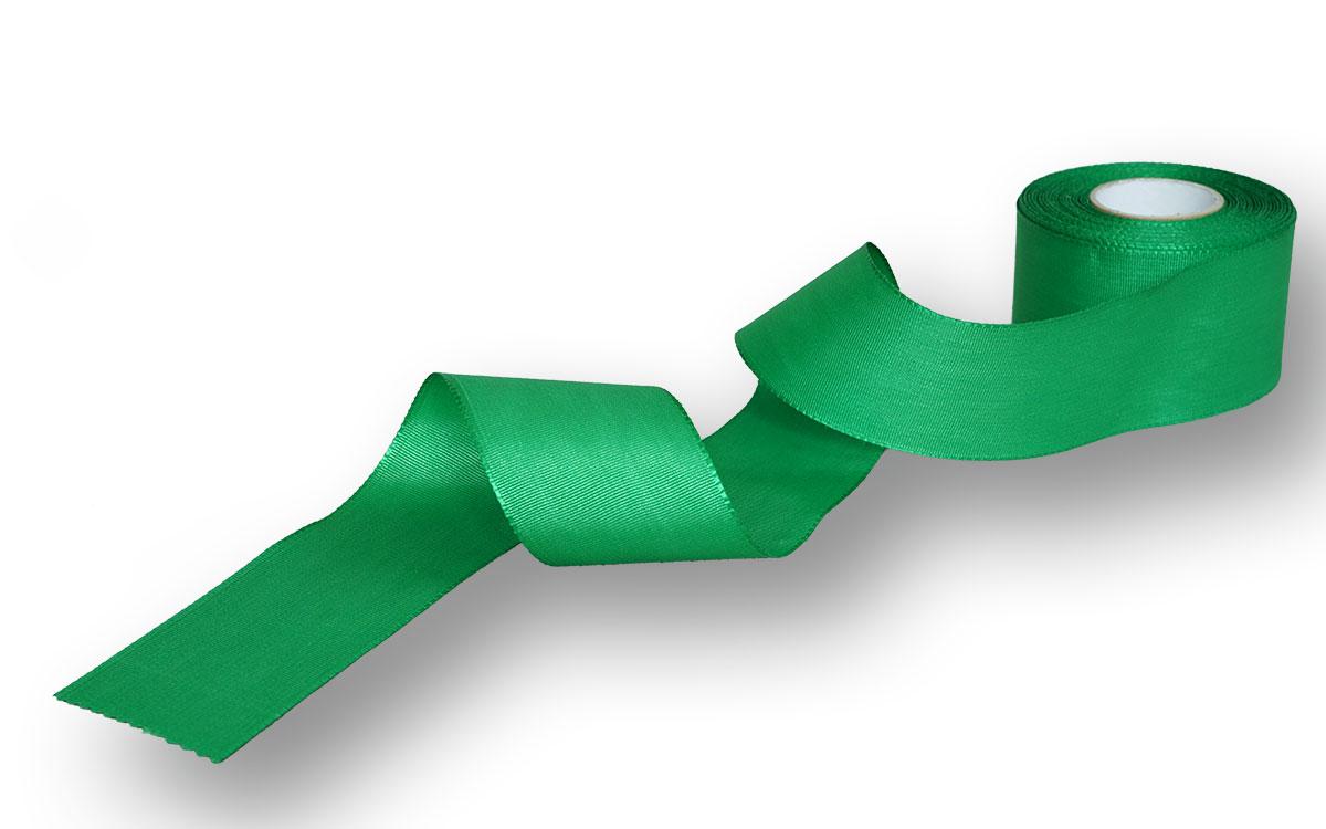 Ripsband, einfarbig grün