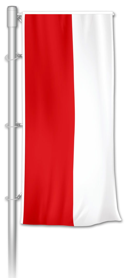Auslegerfahne Rot-Weiß