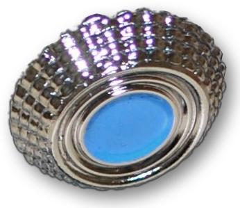 silber-blaue Kokarde für Veteranenmütze