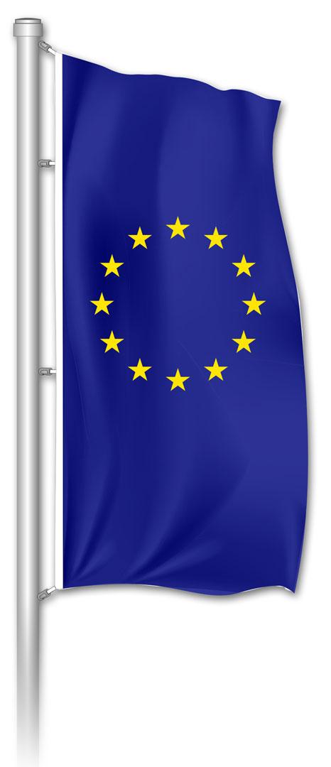Hochformatfahne EUROPA