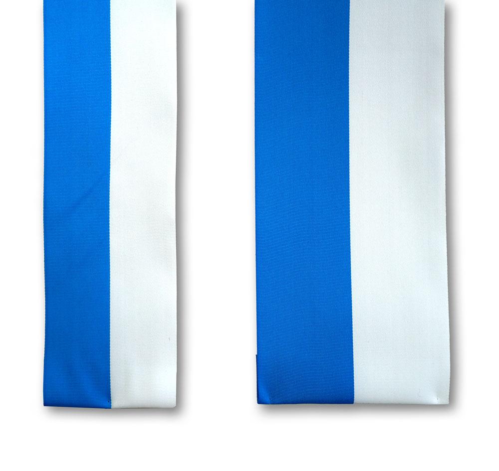 weiß-blaues Ripsband in 2 Breiten