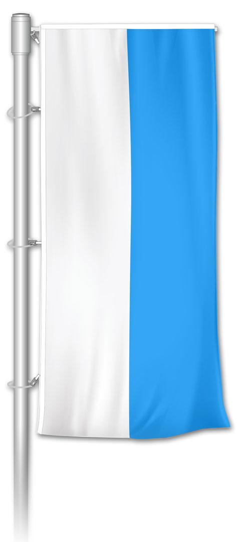 Auslegerfahne Bayern Weiß-Blau