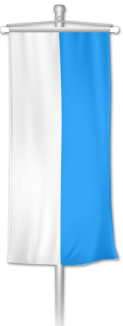 Bannerfahne Bayern weiß-blau