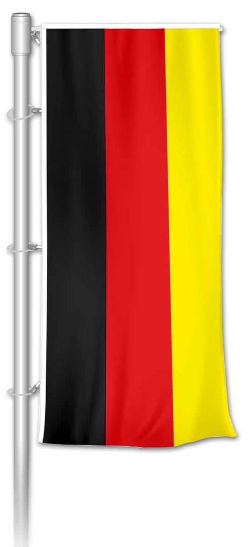 Auslegerfahne - Deutschland Schwarz-Rot-Gold