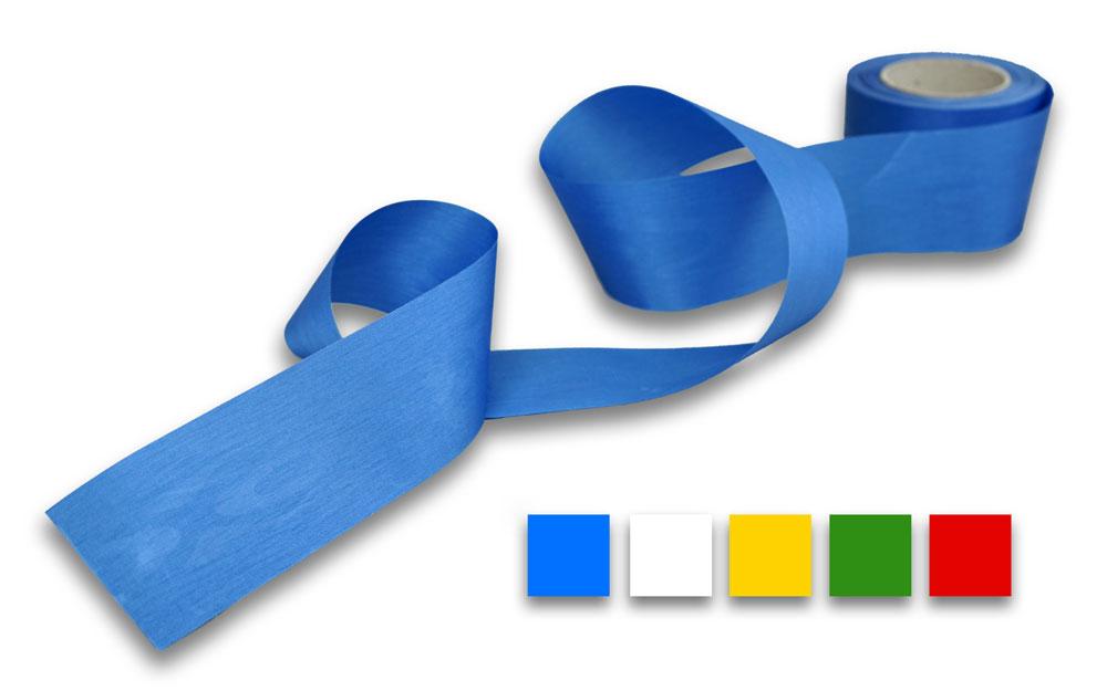 blaues Dekoband aus Moire