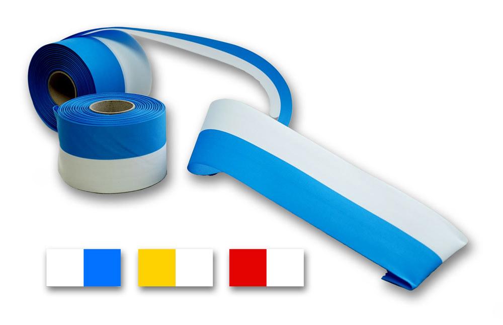 weiss-blaues Ripsband, auch in anderen Farbkombinationen erhältlich