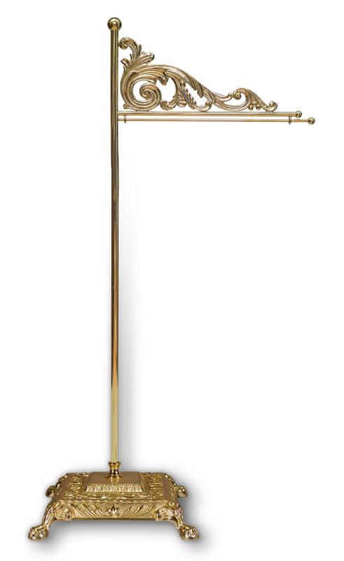 Tischstandartenständer aus Messing,48 cm / 20 cm Ausladung