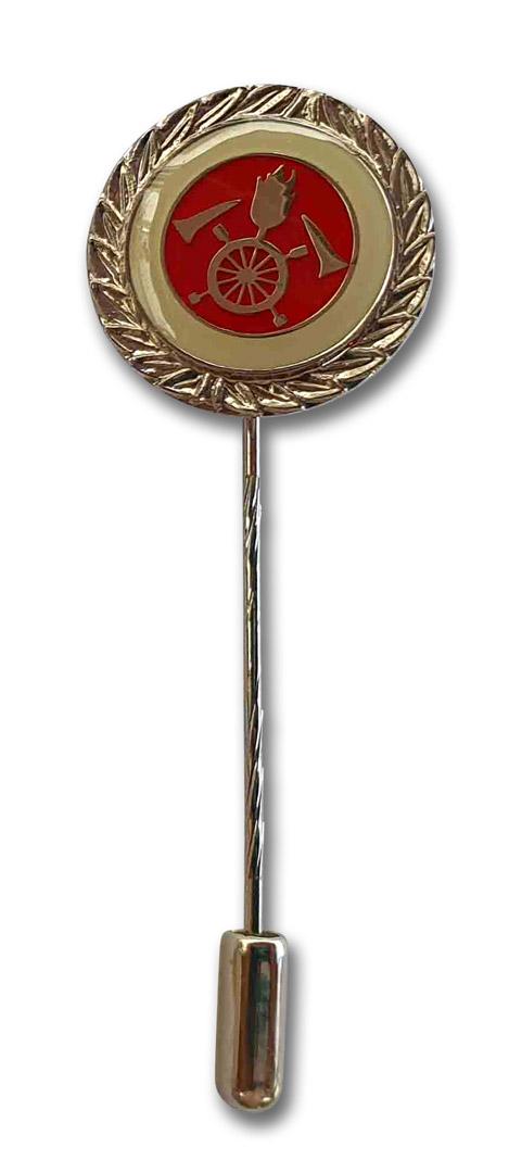 Ehrenabzeichen in silber mit langer Nadel und Nadelsicherung