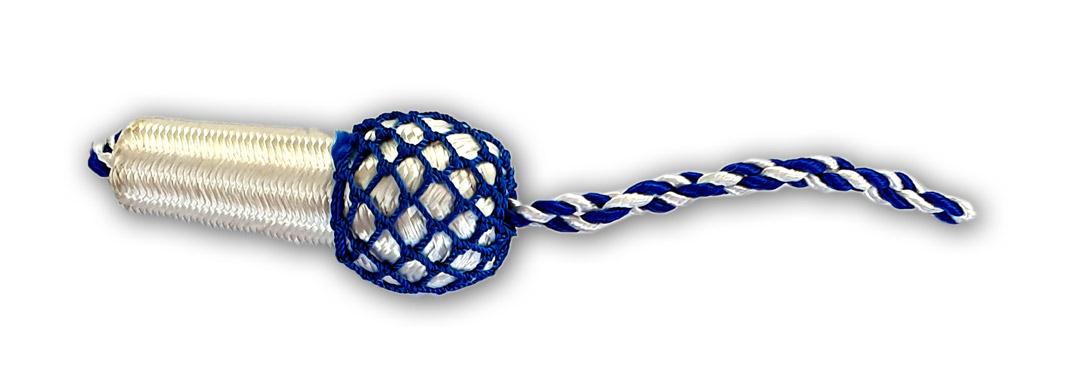 weiss-blaue Eichel für Schützenschnur